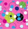 seamless abstract bright pattern circles vector image vector image