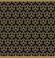 seamless pattern of intersecting thin gold lines vector image vector image