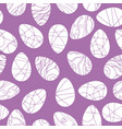 seamless pattern with white easter eggs vector image vector image