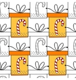 Seamless patterns with gift boxes for coloring vector image vector image
