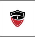 security guard logo design shield key look vector image