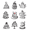 Set of cakes vector | Price: 1 Credit (USD $1)