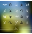 Set of insects icons vector image vector image