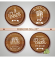 Set of labels with beer vector image vector image