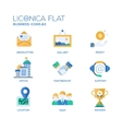 Set of modern office flat design icons and vector image vector image