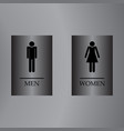 set of restroom symbol toilet sign elegant grey vector image