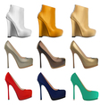 set of womens shoes vector image vector image