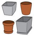 set pots vector image