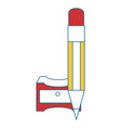 sharpener with pencil vector image vector image