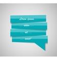 Speech Bubble Template vector image vector image