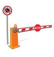 stop sign covid-19 barrier customs control sign vector image vector image