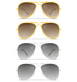 sunglasses for men in metal frames stock vector image vector image