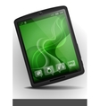 Tablet Pc With Green Wallpaper vector image vector image