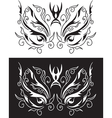 tattoo mask vector image vector image