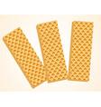 three vanilla wafers vector image vector image