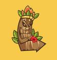 tiki tribal mask tiki bar banner vector image vector image