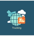 trucking money icon vector image vector image