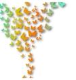 Valentines Heart of butterflies background vector image vector image