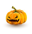very angry jack olantern for halloween vector image