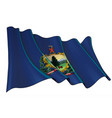 waving flag state vermont vector image vector image