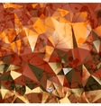 Creative stylized background of triangles vector image