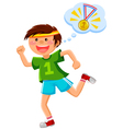 ambitious runner vector image
