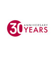 30 years logo concept vector image vector image