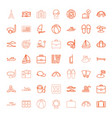 49 vacation icons vector image vector image