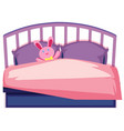a cute children bed vector image vector image