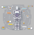 android artificial intelligence robot futuristic vector image vector image