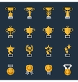 Award cups and trophy icons vector image