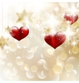 Beautiful valentine background with hearts EPS 10 vector image
