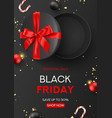black friday sale flyer template vector image vector image
