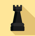 black rook piece icon flat style vector image vector image