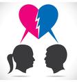breakup couple vector image vector image