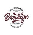 brooklyn athletic new york t shirt design vector image