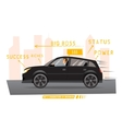 Businessman drives the car in city vector image vector image