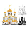 cartoon image christian church with gold design vector image