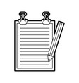 clipboard paper with pencil vector image vector image