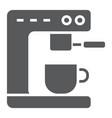 coffee machine glyph icon kitchen and cooking vector image