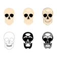 Collection icons human skulls logo in various vector image vector image