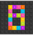 colorful brick block number eight flat design vector image