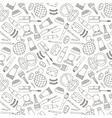 cosmetics hand drawn outline pattern vector image