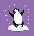 cute penguin on an ice floe vector image vector image