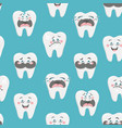 endless wallpaper with emotional teeth art vector image