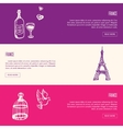France Touristic Horizontal vector image