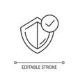general insurance linear icon vector image