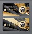 gift voucher template universal flyer vector image vector image