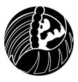 globe with a leaf and wave vector image