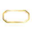 Gold frame simple white vector image vector image